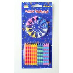Świeczki Świeczki Urodzinowe Neon 24