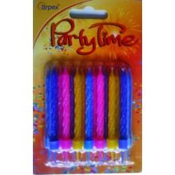 Świeczki  Urodzinowe Neon 24