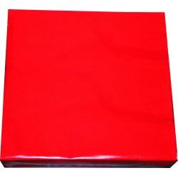 Serwetki Jednobarwne Czerwone 20szt 33x33 cm 3 warstwowe