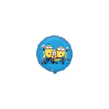 Minionki niebieskie kółko 18''