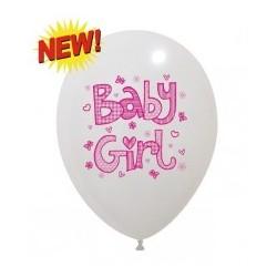 BABY GIRL  Różowy Balon Guma