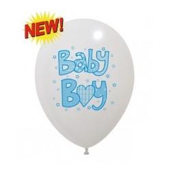 BABY BOY  Niebieski Balon Guma