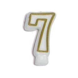 Świeczka numerek 7