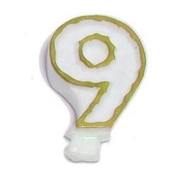 Świeczka numerek 9