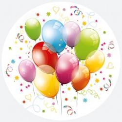 Talerzyki Papierowy baloniki 8 szt
