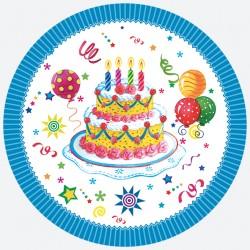 Talerzyki Papierowy tort 8 szt / 18cm