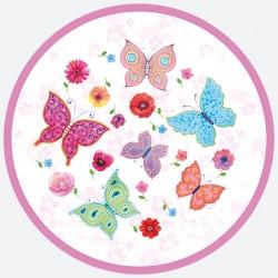 Talerzyki Papierowy motylki 8 szt / 18cm