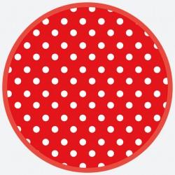 Talerzyki Papierowy kropka czerwona 8 szt / 18cm