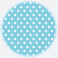 Talerzyki Papierowy kropka niebieska 8 szt / 18cm