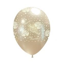 Gołąbki  Złoty Metalik Balon Guma 14''