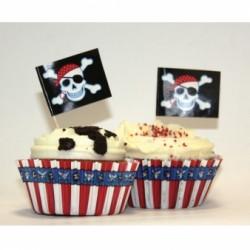 Zestaw Do dekoracji Muffinek Pirat  24 szt  +24 szt