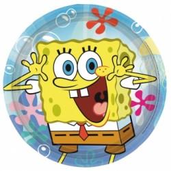 Talerzyki Papierowy Spongebob 23 cm 8 szt