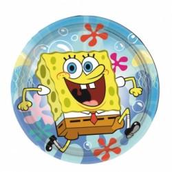 Talerzyki Papierowy Spongebob 18 cm 8 szt