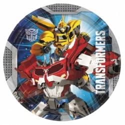 Talerzyki Papierowy Transformers 8 szt 18 cm