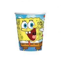 Kubeczki Papierowe Spongebob 8 szt 266 ml