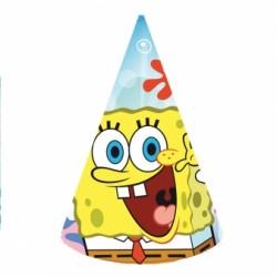 Czapeczki Papierowe Spongebob 6 szt
