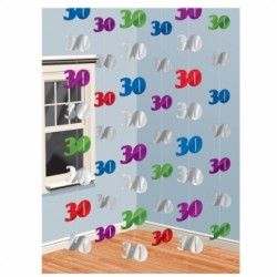 Dekoracja 30 kolorowa / 6 zestawów po 2 m