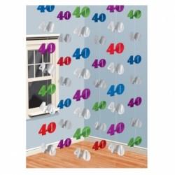 Dekoracja 40 kolorowa / 6 zestawów po 2 m