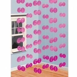 Dekoracja 60 różowa / 6 zestawów po 2 m