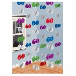 Dekoracja 60 kolorowa / 6 zestawów po 2 m