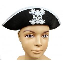 Kapelusz Pirata Białe Obszycie
