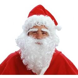 Peruka Mikołaj z brodą brwiami i w czapce