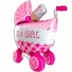 Wózek 3D  różowy