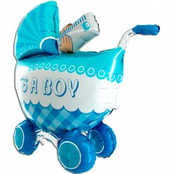 Wózek 3D  niebieski