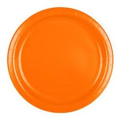 Talerzyki Papierowy pomarańczowe 18 cm 8 szt