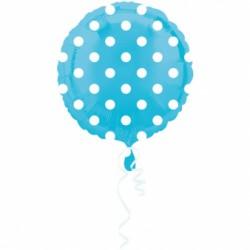 Balon Foliowy kropka niebieska 18''