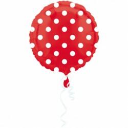 Balon Foliowy kropka czerwona 18''
