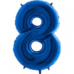 B Foliowy Numer 8 niebieski