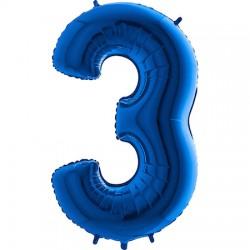 B Foliowy Numer 3 niebieski