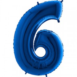 B Foliowy Numer 6 niebieski
