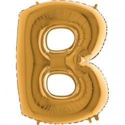 B Foliowy Litera B złota
