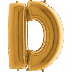 B Foliowy Litera D złota