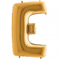 B Foliowy Litera E złota