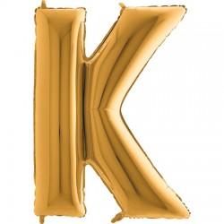 B Foliowy Litera K złota
