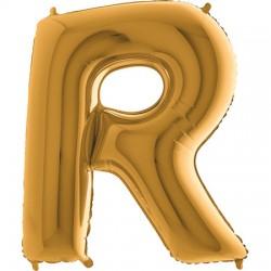 B Foliowy Litera R złota