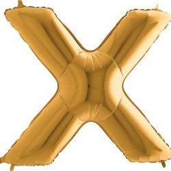 B Foliowy Litera X złota