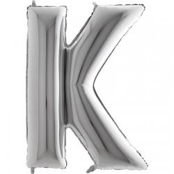 B Foliowy Litera K srebrna