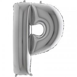 B Foliowy Litera P srebrna