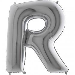 B Foliowy Litera R srebrna