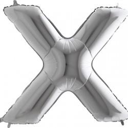 B Foliowy Litera X srebrna