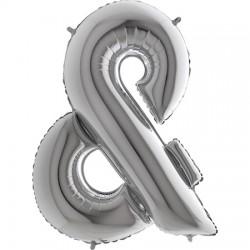 B Foliowy Litera & srebrna