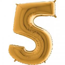 B Foliowy Numer 5 złoty