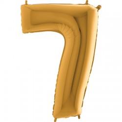 B Foliowy Numer 7 złoty