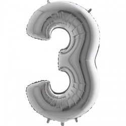 B Foliowy Numer 3 srebrny