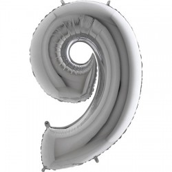 B Foliowy Numer 9 srebrny