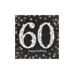 Serwetki urodzinowe 60 lat